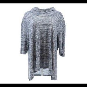 LOGO Lori Goldstein Space Dyed Knit Top Size XL